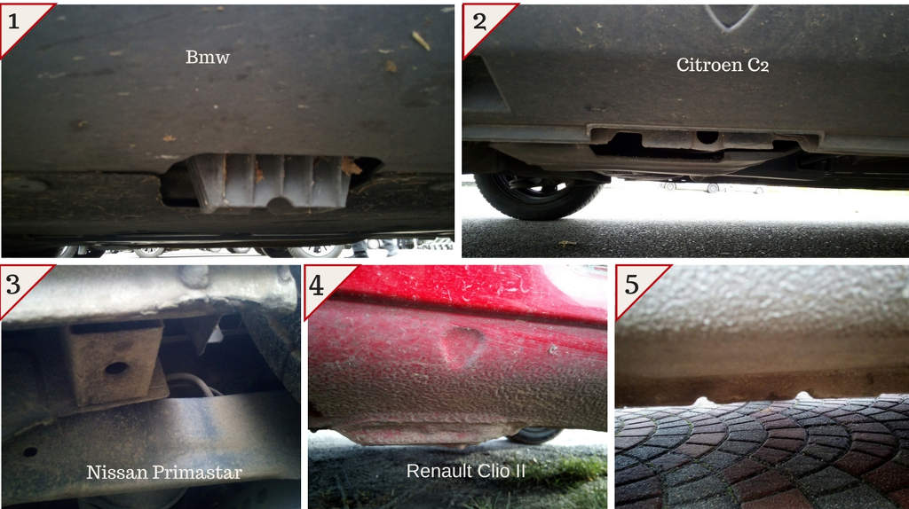 Obrazek przedstawia punkty podparcia samochodu